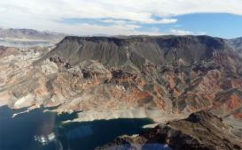 Lake Mead dormant volcano fortification hill