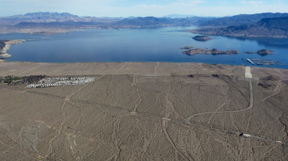 Lake Mead Grand Canyon West helicopter tour - Mohave desert - aerial view