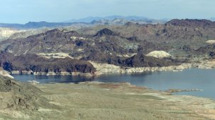Lake Mead and surrounding terrain