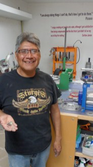 Carlton Jamon Zuni silver jewelry artist