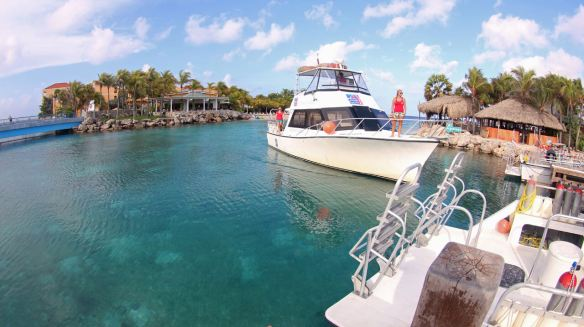 The 'Galaxy' is one of the fleet of Ocean Encounters, a Curacao Dive Shop