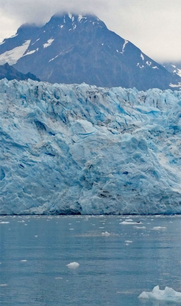 Ethereal blue color of Meares Glacier