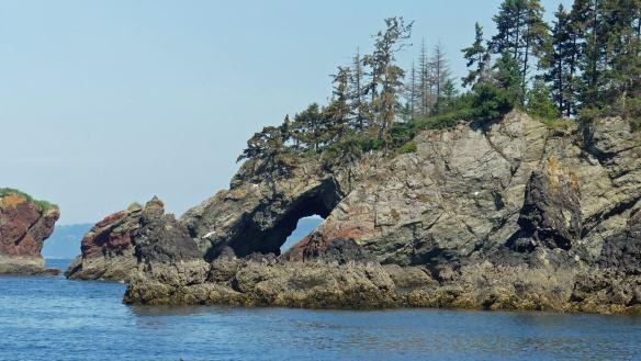 Window rock along Seldovia shoreline