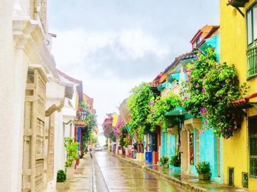 Street in Cartagena de Indias - Colombia