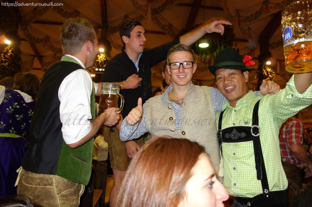 crazy guys in Oktoberfest