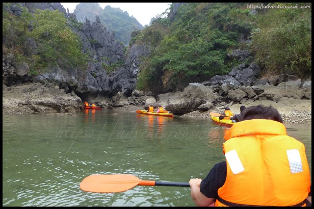 Kayaking in Ha Long Bay
