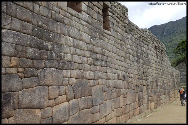 Inca wall at Machu Picchu