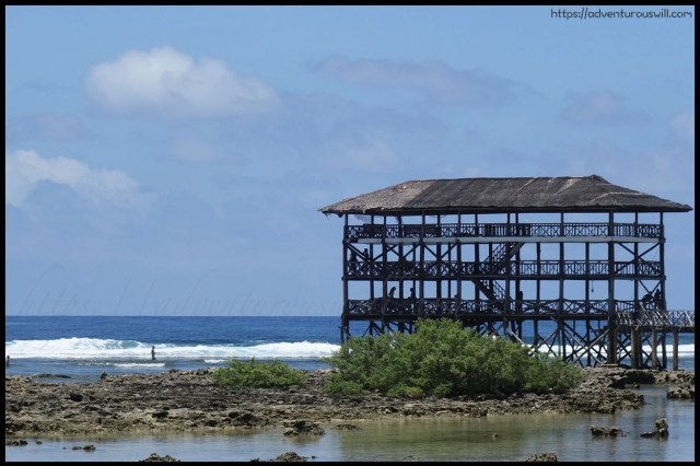 Cloud 9 surfing view deck Siargao