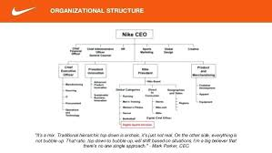 Nike s organizational structure pros cons