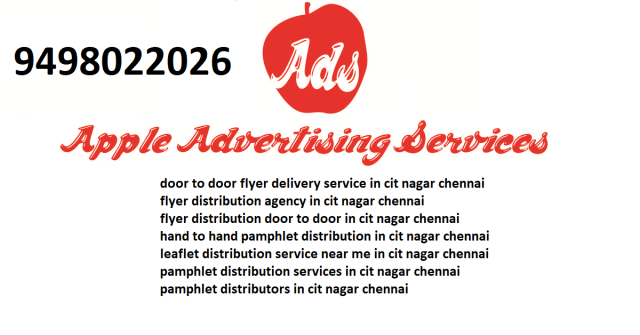 flyer distribution agency in cit nagar chennai