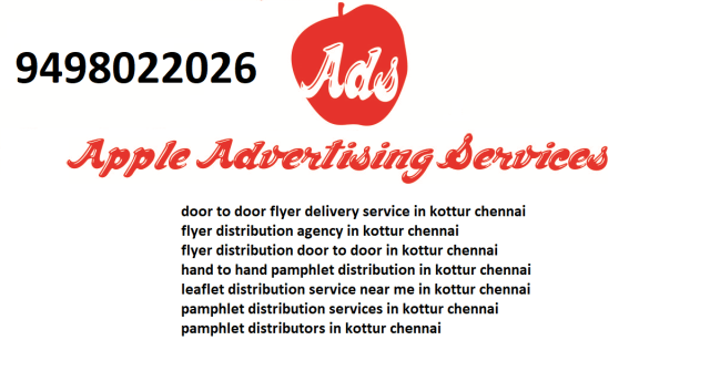 flyer distribution agency in kottur chennai