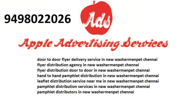 leaflet distribution service near me in new washermenpet chennai