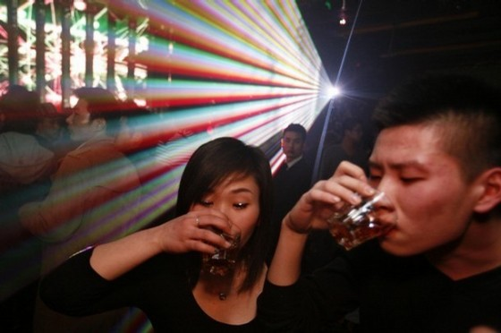 Whiskey drinking in China