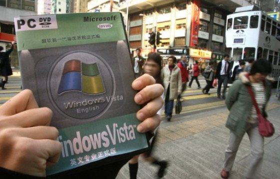 Windows Vista pirated version