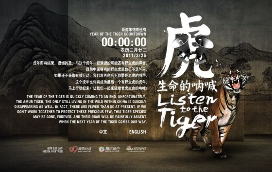 WWF and TRAFFIC China - Listen to the tiger campaign