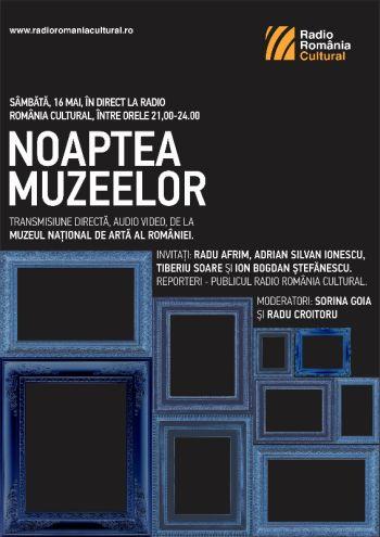 Noaptea Muzeelor. Pro şi contra. Maraton live la Radio România Cultural