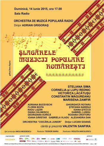 """""""Slagarele muzicii populare romanesti"""" la SALA RADIO!"""