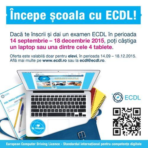 Începe şcoala cu ECDL!