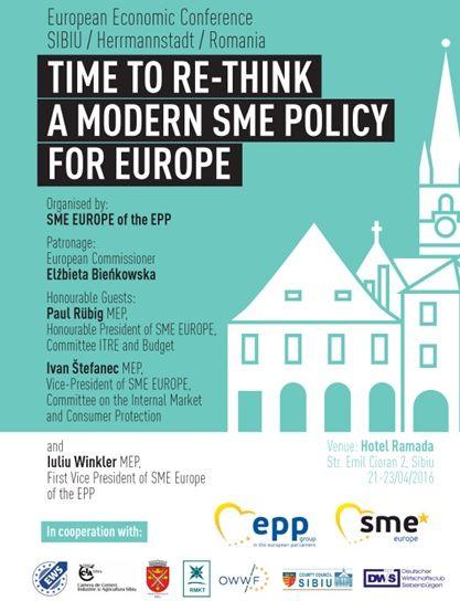 Conferinţă economică pe tema IMM-urilor la Sibiu