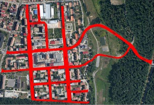 Primăria Sibiu licitează repararea străzilor de beton din cartierul Valea Aurie