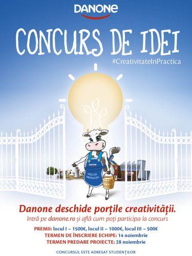 Danone lansează #CreativitateinPractica, concurs de idei pentru studenți