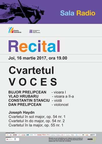#Concert | Cvartetul VOCES