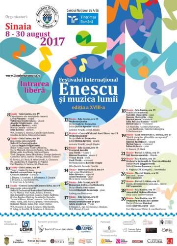 """#Festival   Festivalul Internaţional """"Enescu şi muzica lumii"""" 2017"""
