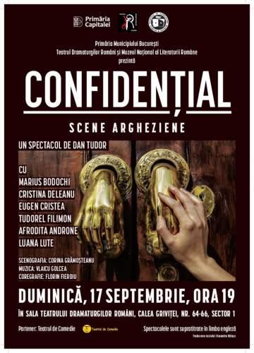 """Spectacol TDR """"Confidențial. Scene Argheziene"""" se joaca în cadrul Zilelor Bucureștiului 2017"""