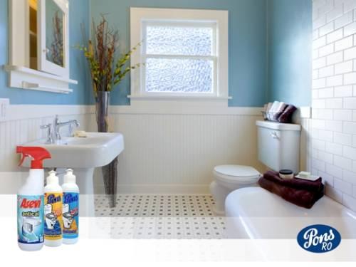 Schimbi pardoseala din baie sau schimbi produsele pentru curățat?