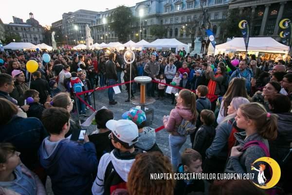 Noaptea Cercetătorilor Europeni a reunit peste 35.000 de participanți în 17 orașe din România