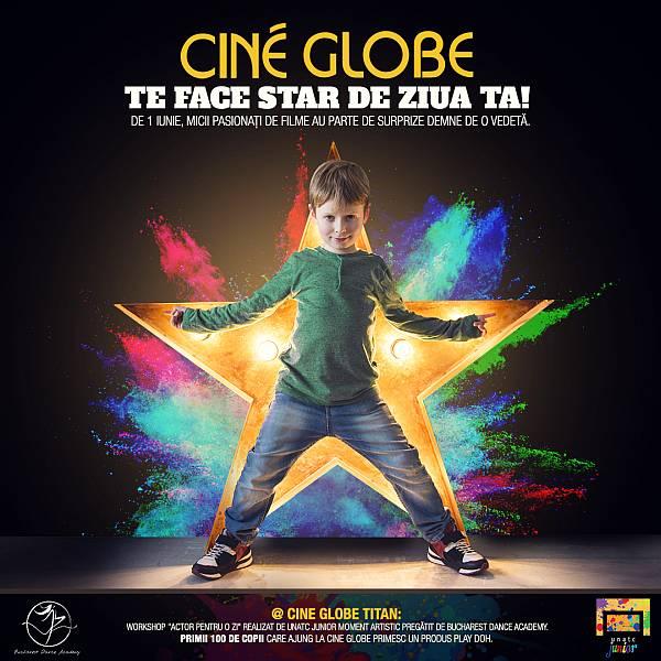 De 1 Iunie, la Cine Globe copiii au parte de suprize demne de o vedetă de film ok