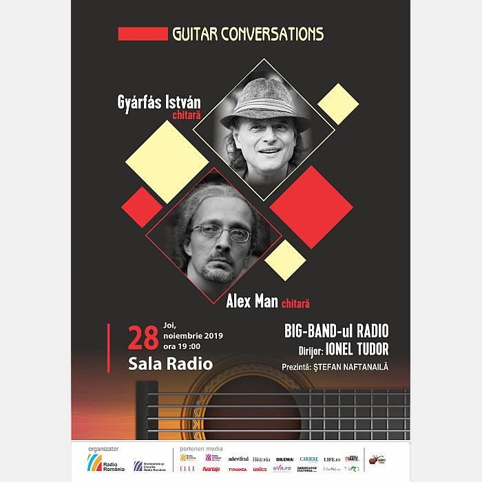 Guitar Conversations: jazz cu Big Band-ul Radio, chitaristii Gyarfas Istvan si Alex Man