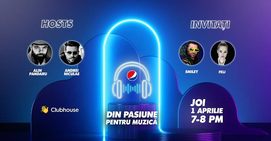 Invitatie Pepsi Clubhouse Room cu Smiley si Feli