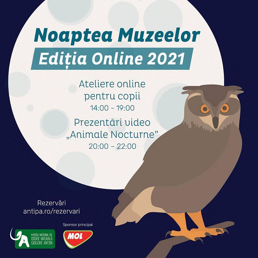 Noaptea Muzeelor la Antipa 2021