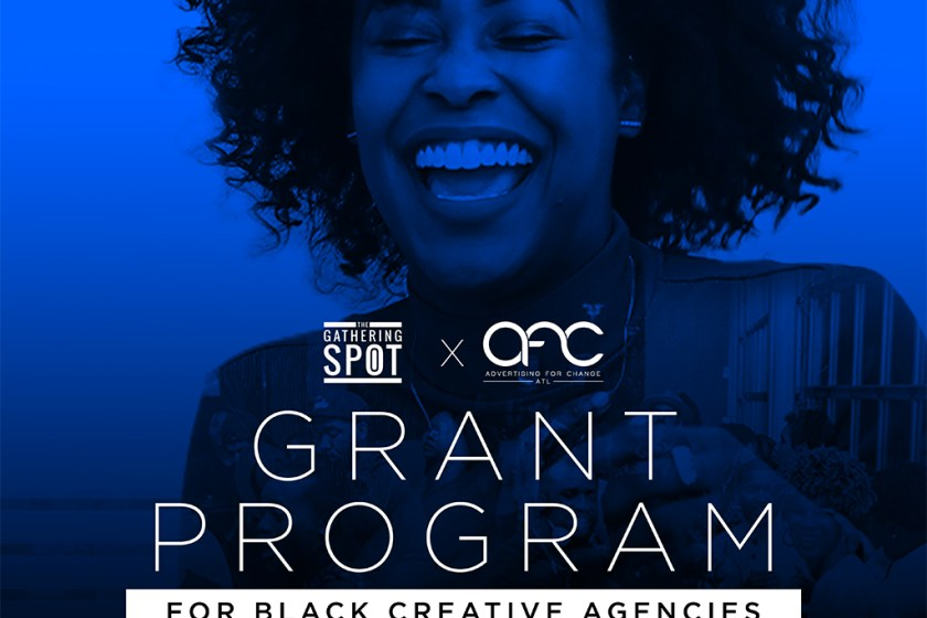 Announcement of the Gathering Spot and Advertising for Change offering grants and ongoing mentorship to Black-owned marketing and ad agencies in Atlanta