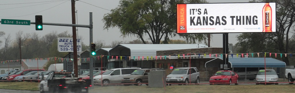 Digital Billboard Signage available at 63rd & Broadway (northeast face) in Wichita, KS