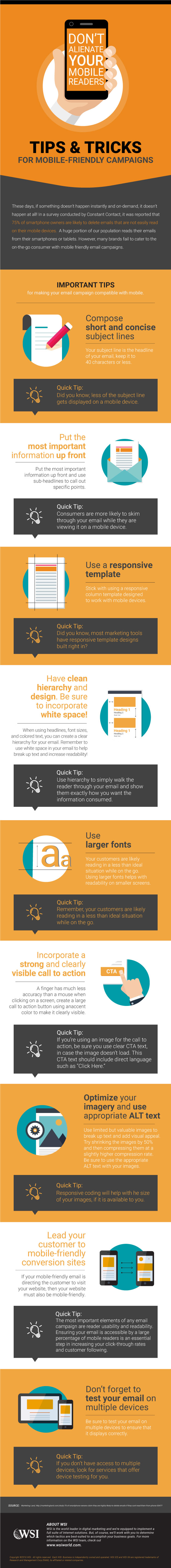 Tips & Tricks for Mobile Friendly infographic