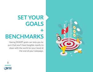 Set your Goals and Benchmarks