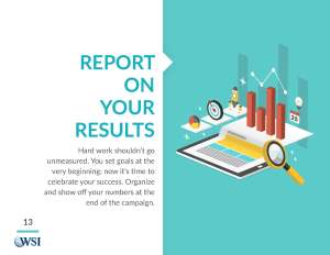 Report on your results
