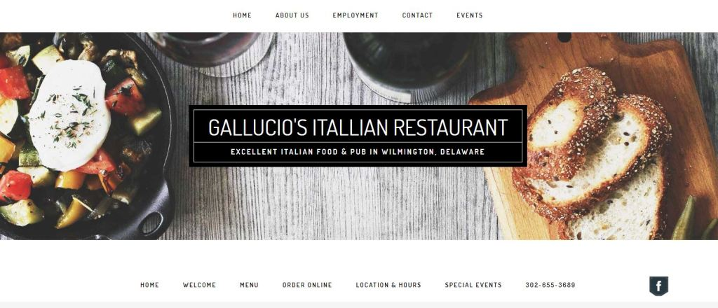 Gallucio's Restaurant Website Design