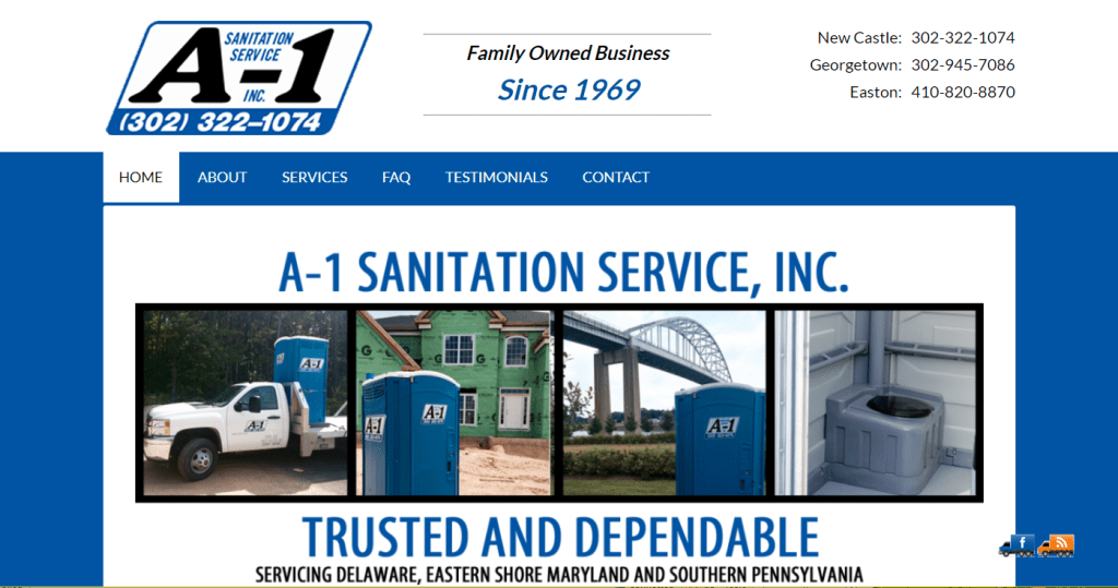 A1 Sanitation Website Design