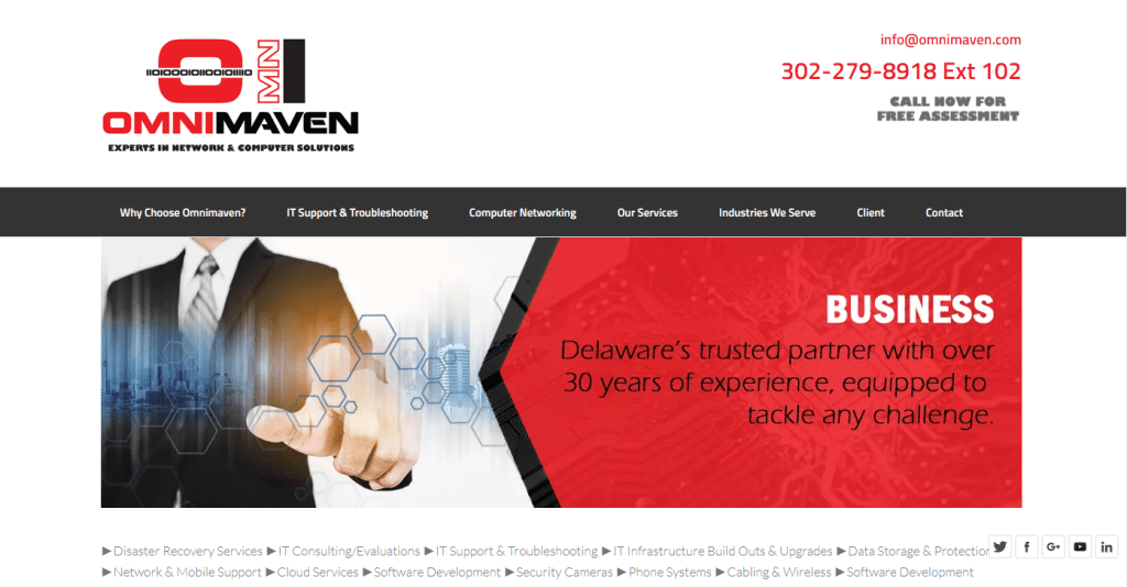 Omnimaven IT Support's Website Design