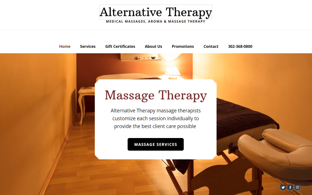 Alternative Therapy Website Design in Delaware