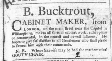 Jul 25 - 7:25:1766 Virginia Gazette