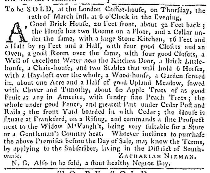 Mar 12 - Pennsylvania Gazette Slavery 3