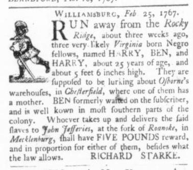 Mar 12 - Virginia Gazette (Purdie & Dixon) Slavery 4