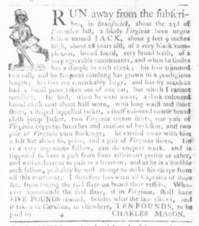 Mar 19 - Virginia Gazette Slavery 1