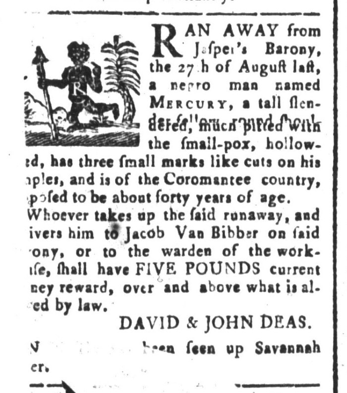 Mar 20 - South-Carolina and American General Gazette Slavery 3