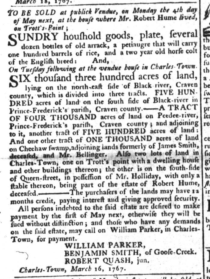 Mar 24 - 3:24:1767 South-Carolina Gazette and Country Journal