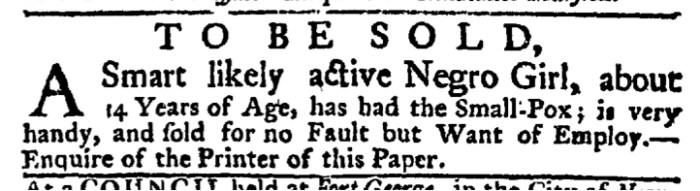 Mar 26 - New-York Gazette Weekly Post-Boy Slavery 1
